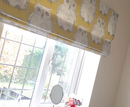 window with roller blinds