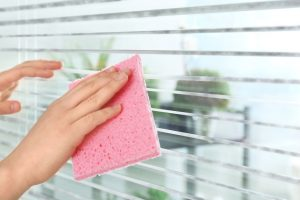 Wiping Blinds Clean